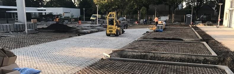 Waterpasserende bestrating Coriolanuspad Eindhoven